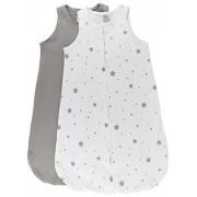 Ely's & Co.100% algodón Ropa Manta Saco de Dormir para bebé, 2 Unidades, Estrellas Grises 6-12 Meses, Gris, 6-12 Meses