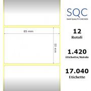 Etichette SQC - polipropilene lucido (bobina), formato 85 x 55