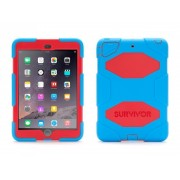 Griffin Survivor All-Terrain hardcase iPad Mini 1/2/3 blauw-rood