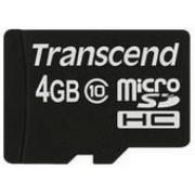 Card de memorie Transcend microSDHC, 4GB, Clasa 10