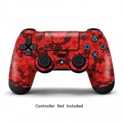 Game Xcel Sony Ps4 High Gloss Controller Skin Custom Playstation 4 Remote Vinyl Sticker Play Station 4 Joystick Decal Digicamo Red [ Controller Not Included ]