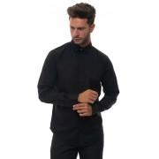 Giorgio Armani Camicia cotone manica lunga Nero Cotone Uomo