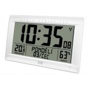 Obrovské rádiem řízené digitální hodiny s budíkem JVD stříbrné RB9075.2