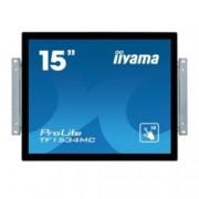 "Монитор Iiyama ProLite TF1534MC-B5X, 15"" (38.10 cm), TN панел, XGA (1024x768), 8ms, 700:1, 330cd/m2, DP, HDMI, VGA"