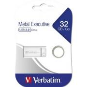 Pendrive, 32GB, USB 2.0, VERBATIM Exclusive Metal (UV32GEM2)