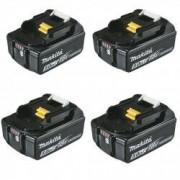 MAKITA Pack 4 Batteries MAKITA BL1850B Li-ion 18 V / 5 Ah (témoin de charge intégré)