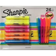 Sharpie 24 Highlighter Pens (14 Chisel + 10 Narrow Chisel) Assorted Colours