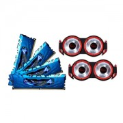 Memorie G.Skill Ripjaws 4 Blue 16GB (4x4GB) DDR4 3400MHz CL16 1.35V Quad Channel Kit, F4-3400C16Q-16GRBD