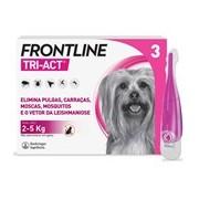 Tri-act para cães dos 2 aos 5kg 3pipetas - Frontline
