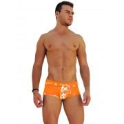 Icker Sea Logo Trim Lace Front Boxer Brief Underwear Orange COI-14-ORANGE-07