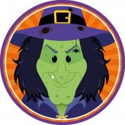 Shoppartners 10x Bierviltjes horror/Halloween heksje van karton