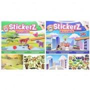 Merkloos Autoraam stickerboekjes voor jongens