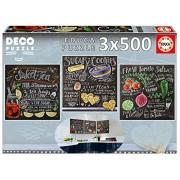 Educa Children's 3 x 500 Lily & Val Deco Puzzle (500 Piece)