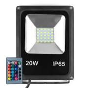Refletor LED RGB 20W C/ Controle Remoto