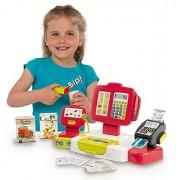 SMOBY 350107 Casa de marcat electronică cu cititor de coduri, cititor de carduri și scară roșie