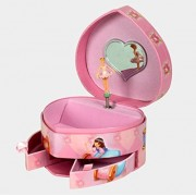 Heart Musical/Music Box Jewelry Storage Case With Drawers ,Ballet Collection,Ideal Gift For Little Girls by Snow Courage