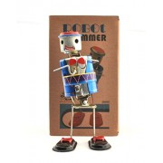 Tin Toys Robot Drummer Collectible Welby Treasures Replica India Wind-up