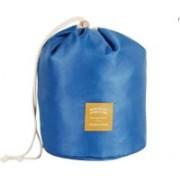 MOHAK Cosmetic Storage Bag Travel Kit Organizer Bathroom Toiletry Carry Case Makeup Box Potli(Blue)