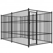 vidaXL Дворна клетка за кучета, 400x200 см