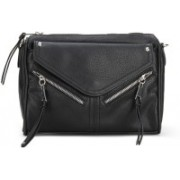 Call It Spring Women Casual Black Genuine Leather Sling Bag
