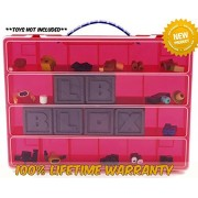Life Made Better Toy Storage Organizer. Fits Up to 60 Mini Figures And Accessories. Compatible With Roblox TM - Red
