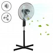 Стоящ вентилатор 3 степени 50W ø41cm Черен Пластмаса [in.tec]®