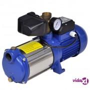 vidaXL Mlazna pumpa s mjeračem, 1300 W. 5100 l/h, plava