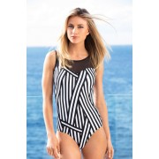 Womens Quayside Mesh Swimsuit - Black