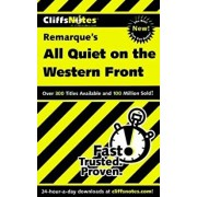 Cliffsnotes on Remarque's All Quiet on the Western Front, Paperback/Susan Van Kirk