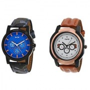Oura Analog Round Casual Wear Men'S Watches Combo Of 2pc -Oura-CO-1604
