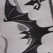 ELECTROPRIME Horror Halloween Haunted House Black Lace Bat Spiderweb Window Curtain Decor