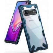 Husa Samsung Galaxy S10 Plus Ringke FUSION X Transparent Albastru