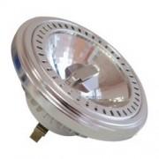 LED lámpa , 12V DC , AR111 , G53 , 15 Watt , 20° , meleg fehér