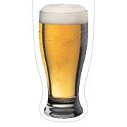Magnetische boekenlegger: Glas bier