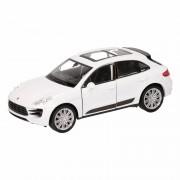 Porsche Speelgoed witte Porsche Macan Turbo auto 12 cm