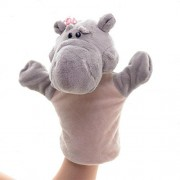 Lazada Cartoon Plush Hippo Hand Puppets Animal Toys for Pretend Play
