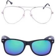 Amour-Propre Wayfarer, Over-sized Sunglasses(Multicolor)