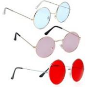 Phenomenal Round Sunglasses(Blue, Pink, Red)