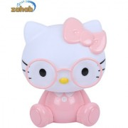 Zahab Cute Pink Hello Kitty Cartoon Led Desk Lamp/Table Lamp/Night Light for Kids