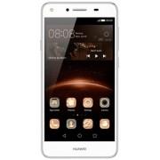 "Telefon Mobil Huawei Y5II, Procesor Quad-Core 1.3GHz, IPS LCD Capacitive touchscreen 5"", 1GB RAM, 8GB Flash, 8MP, 4G, Wi-Fi, Dual Sim, Android (Alb) + Cartela SIM Orange PrePay, 6 euro credit, 4 GB internet 4G, 2,000 minute nationale si internationale fix"