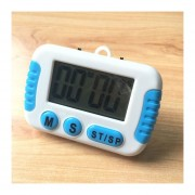Cocina Temporizador Electrónico Digital Con Pantalla LCD De Alarma Alto Horno Para Cocinar Juegos De Deportes Office (blanco)