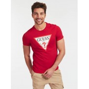 Guess T-Shirt Driehoeklogo - Rood - Size: Extra Large