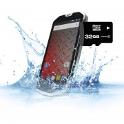 """Celular Android de Uso Rudo 8gb 4.5"""" Resistente Al Agua Dual Sim H450r - Gris + Micro SD"""