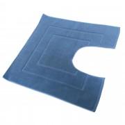 Linnea Tapis de bain contour WC et lavabo 60x60 cm FLAIR Bleu Moyen 1500 g/m2