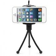 De-TechInn Adjustable Mini Camera Mobile Phone Stand Clip Bracket Holder And Tripod