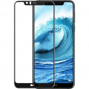 Azuri Gehard Glas Nokia 5.1 Plus Screenprotector Glas Zwart