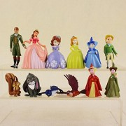 12pcs/set Cosplay Princess Sofia PVC Action Figure Model Doll Toys For Kids House Decoration
