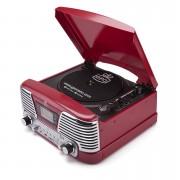 GPO Tocadiscos GPO Retro Memphis Sistema de música 4 en 1 con CD y radio FM - Rojo