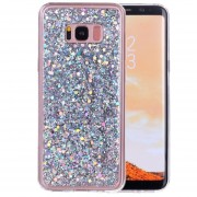 Para Samsung Galaxy S8 + / G9550 El Polvo Del Brillo Suave Tpu Caso De Proteccion (Plateado)