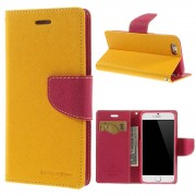 Mercury Pouzdro / kryt pro Apple iPhone 6 / 6S - Mercury, Fancy Diary Yellow/Hotpink